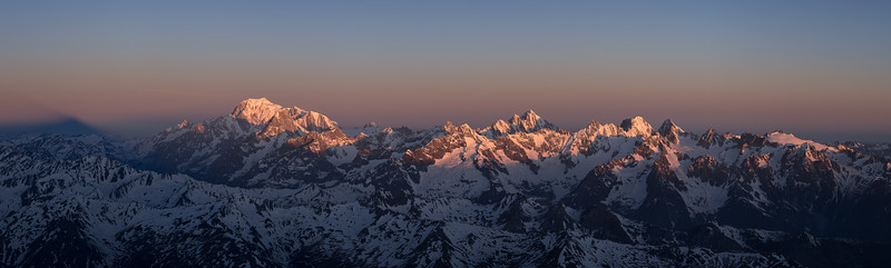 Mont Blanc Massif from Grand Combin