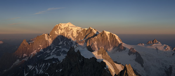 Mont Blanc Massif from the Grandes Jorasses