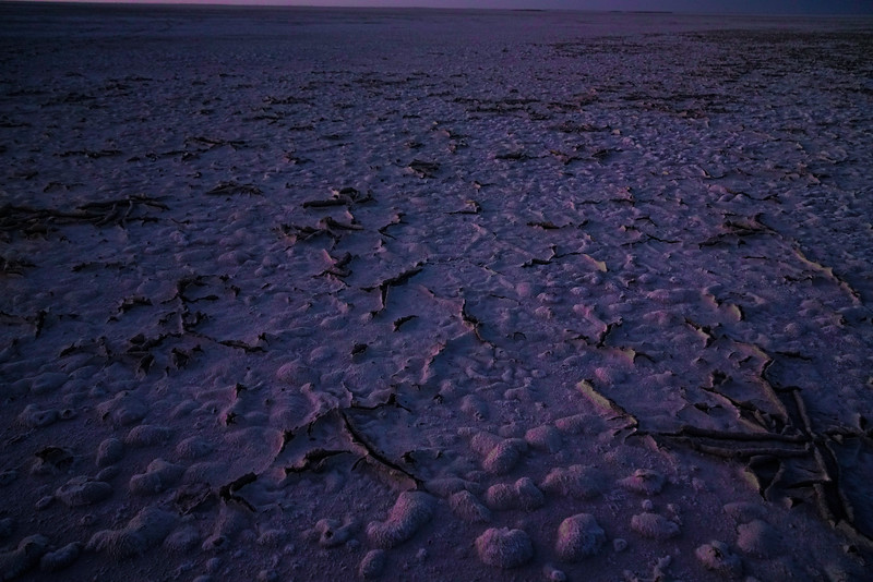 The Kalahari Salt Pans at Dusk