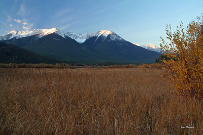West from Vermillion Lakes near Banff