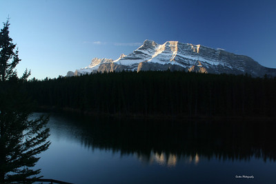 Mount Rundle taken from Johnson Lake
