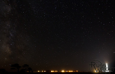 Point Arena Lighthouse under the Milky Way. September 2013