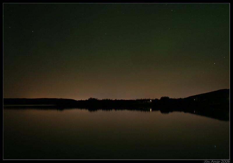 Hafravatn at Nighttime.