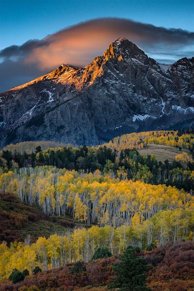 Fall colors, Dallas Divide, Colorado