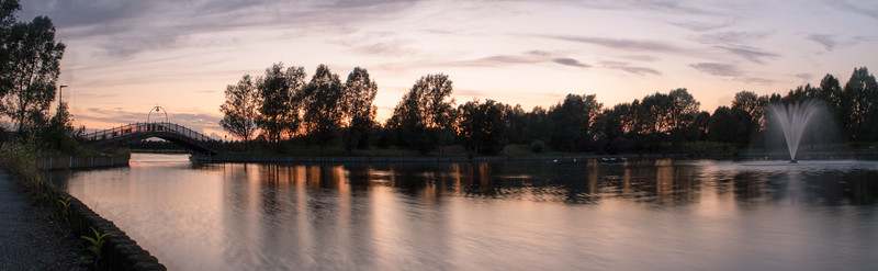 Lakeside , Doncaster Panorama , At Sunset