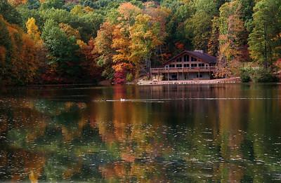 Lodge in a Fall Setting