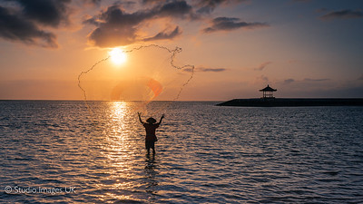 Fisherman at Sanur Beach Bali