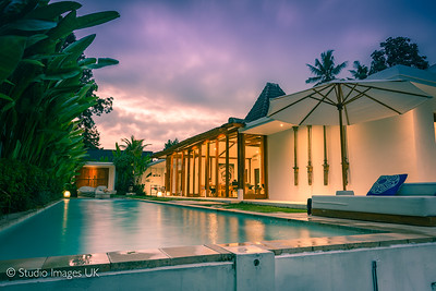 Our villa in Ubud at sunset