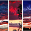 American Flag sunset sky.