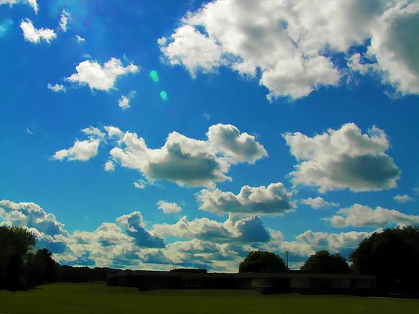 Fluffy Cumulus Clouds