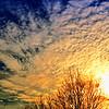 Sunset cirrocumulus clouds.