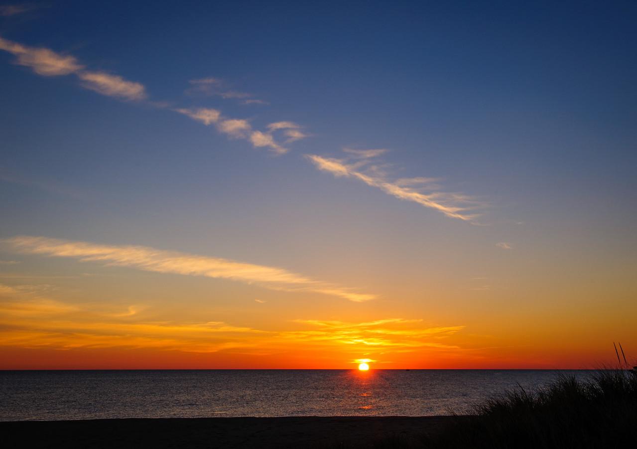 Sunrise over Ballard Beach