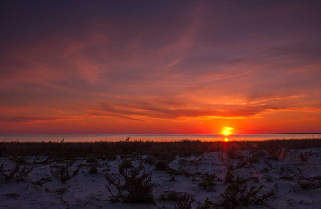 Hardings Beach Sunset