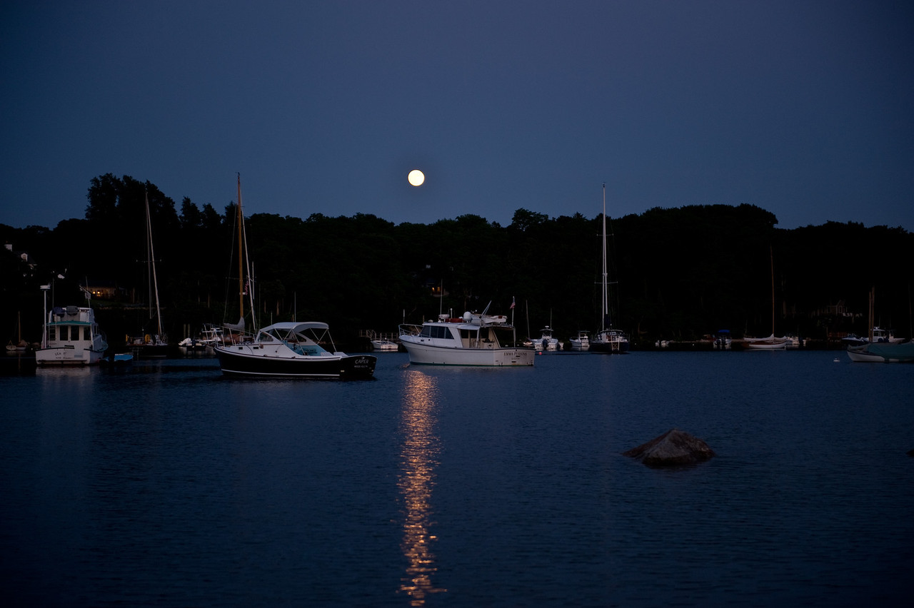 Quissett Harbor Moonrise