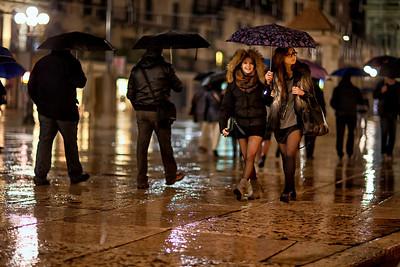 Shopping a Verona pioggia