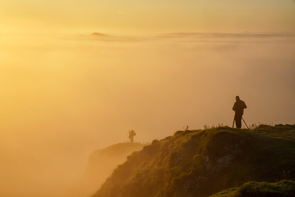 Beautiful cloud inversion at Chrome Hill in the Peak District National Park