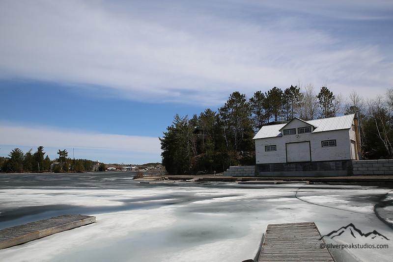 Frozen Temagami Lake - Temagami, Ontario