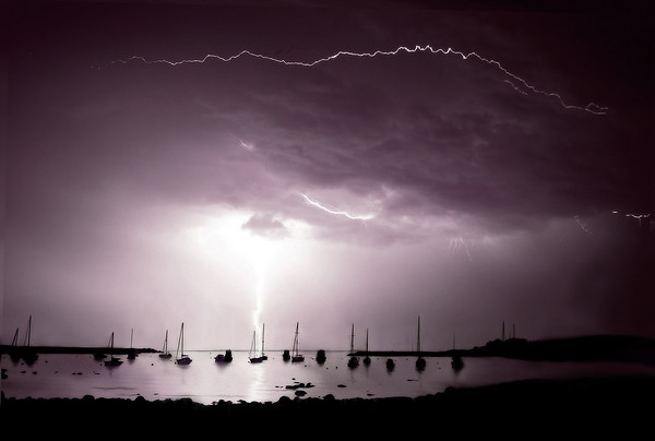 Lightning over Scituate Harbor - Scituate, MA
