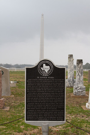 San Jacinto Battleground - De Zavala Cemetery