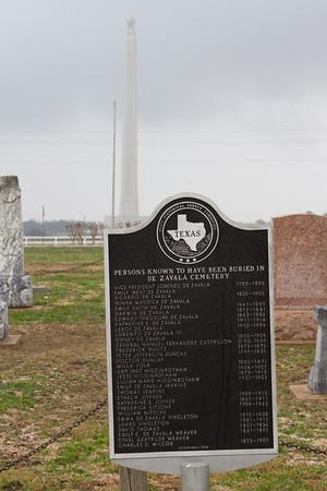 San Jacinto Battleground - De Zavala Cemetery