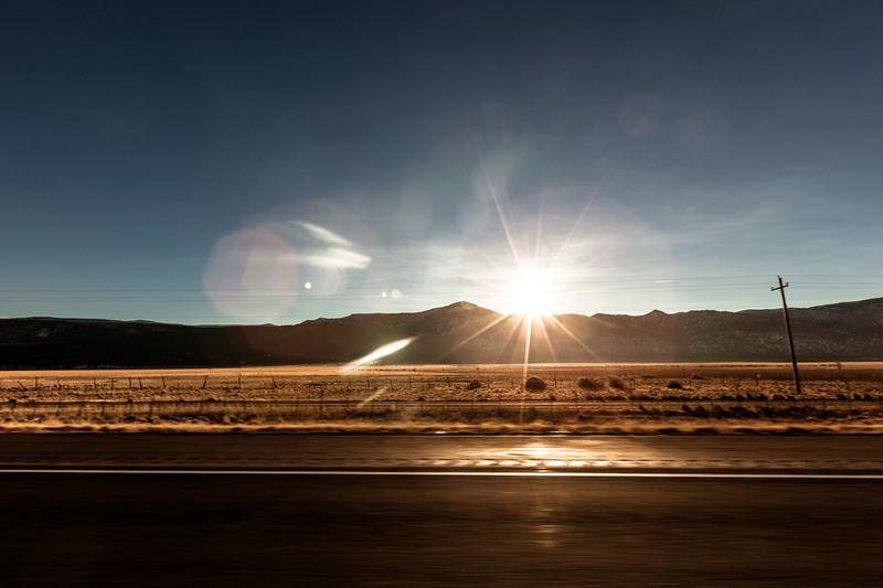 Dawn on the Road