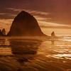 Haystack Rock Golden Hour Cannon Beach, Oregon