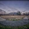 Two Roads - Boardwalk Meadowbrook Farm Winter Golden Hour HDR