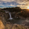Snoqualmie Falls February Sunset Sunstar Wide Angle