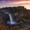 Snoqualmie Falls December Sunset 2