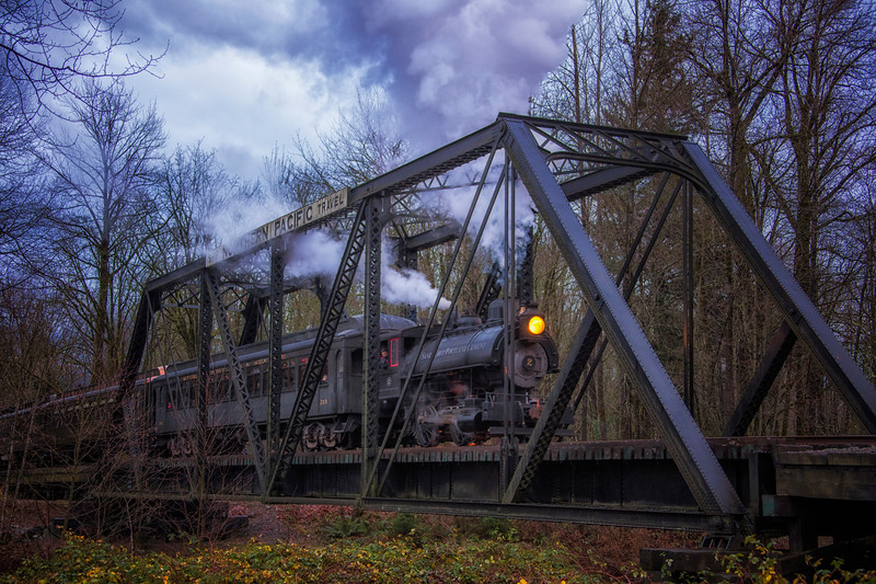 Santa Steam Train North Bend Trestle