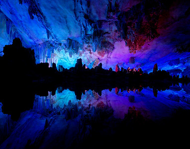 Cavernous Reflections - Reed Flute Cave, Guilin, China