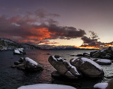 BONSAI ROCK HDR PANORAMA - LAKE TAHOE