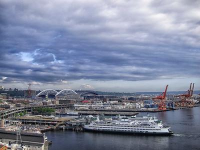 Seattle Waterfront from Great Wheel