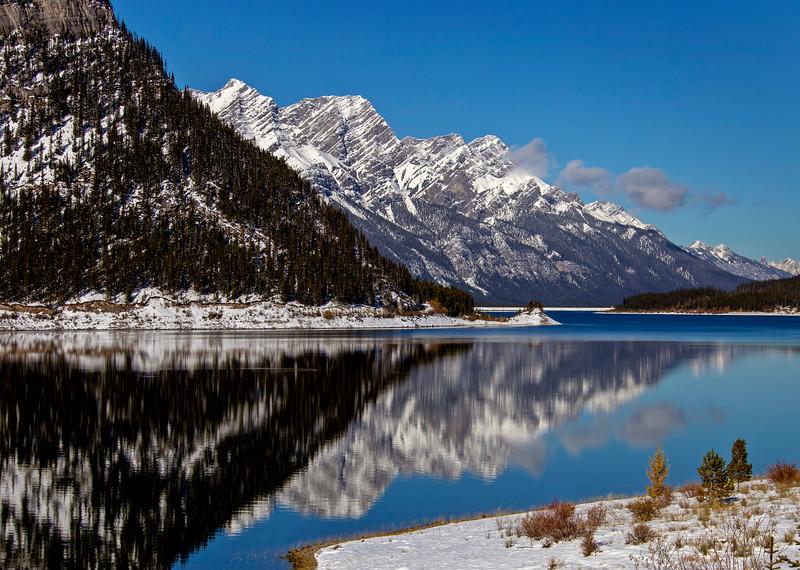 Rocky Mountains Winter Fall