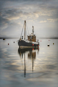 Fishing Boat at Brancaster Staithe. By David Stoddart