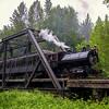 Steam Train Crossing The Trestle 2