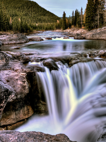 Bragg Creek Waterfall