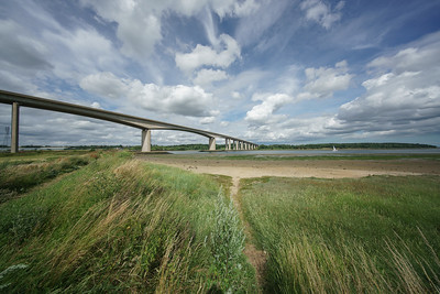 The Orwell Bridge Suffolk in 10mm by David Stoddart