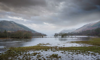 The flooded fields of Balquhidder Scotland by David Stoddart