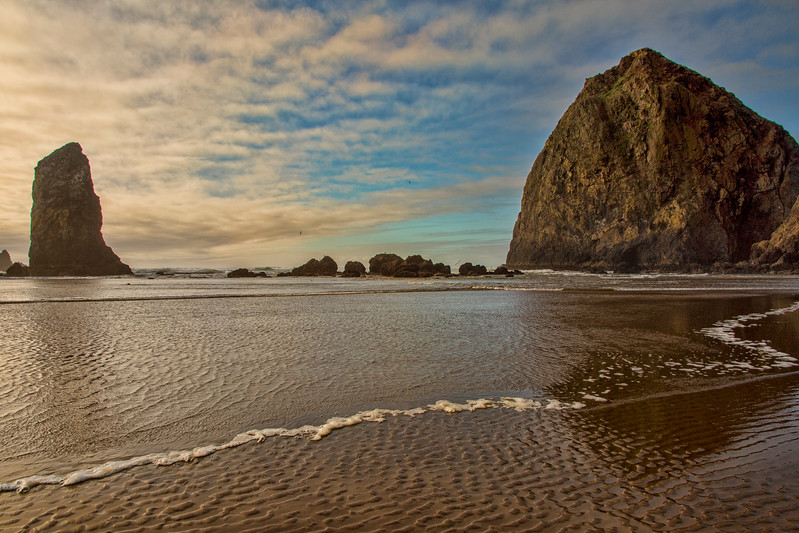 Haystack Rock and Needles Incoming Tide