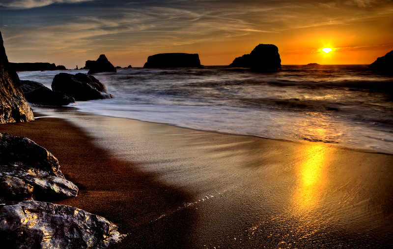 Sunset Bandon Oregon