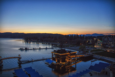 Sunset Downtown CDA at CDA Resort From 11th Floor 4-28-19