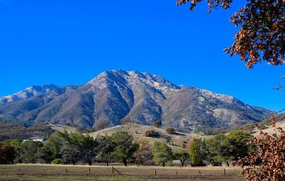 Mount Diablo Winter Sky