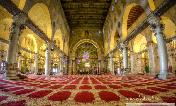 Inside Al Aqsa Mosque