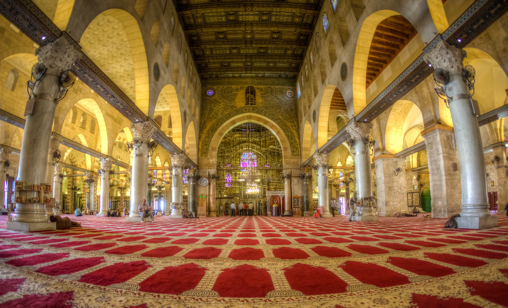 Inside Al Aqsa Mosque