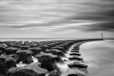 sea defences. Sea Defences. #LongExposure of 2 minutes fused with an #HDR image and taken with a Canon 5D MK iii, Canon 16-35mm lens, Aperture F11, ISO 100. #LeeBigStopper #ArtHakker