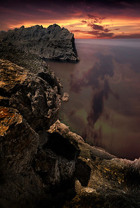 Sunset, Cap De Formentor, Majorca. By David Stoddart
