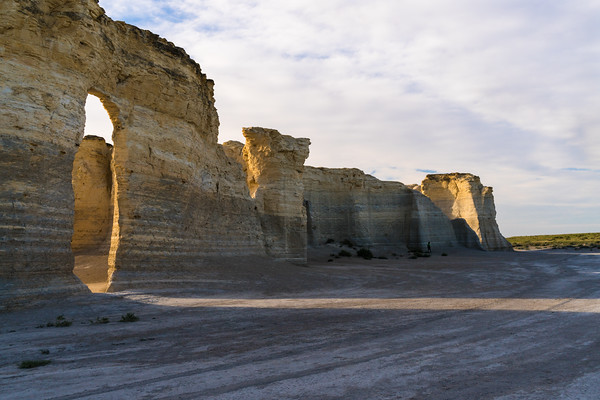 MONUMENT ROCKS SUNSET - KANSAS