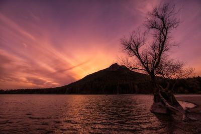 Spring Sunset at Rattlesnake Lake