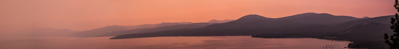 A Smoky Tahoe Sunset